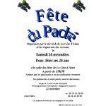 Fête du Paché Samedi 16 Novembre