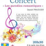 Soirée concert Daniel Praeger le Samedi 19 Septembre