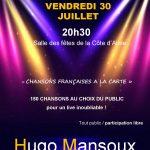Concert «Hugo Mansoux»  30 Juillet 2021